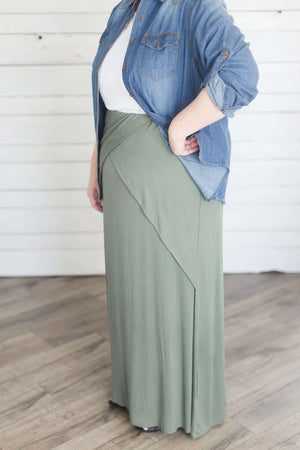 Criss Cross Layered Maxi Skirt