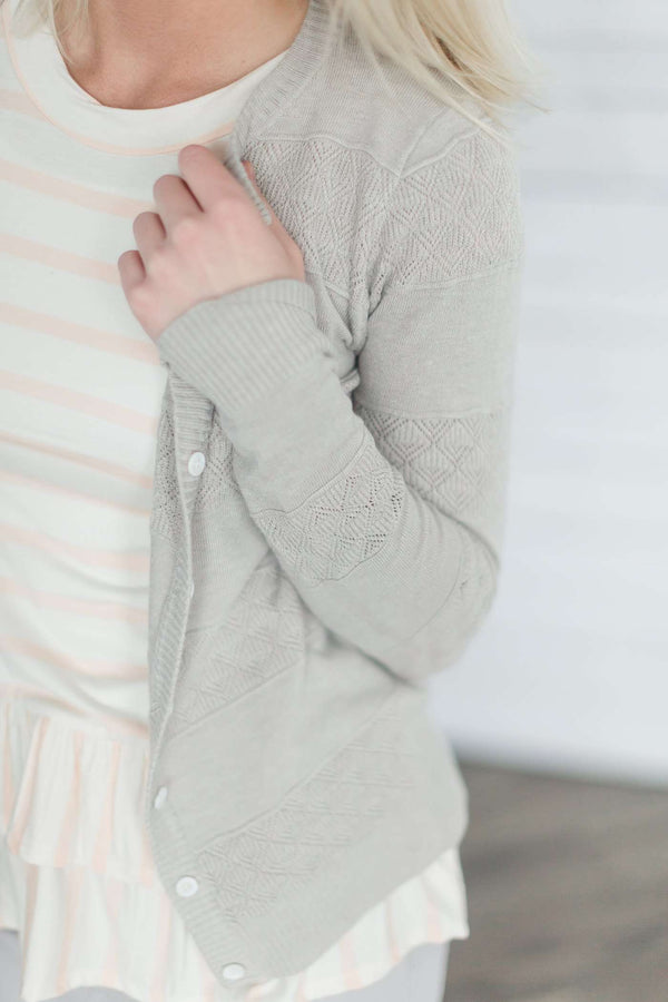 modest women's cardigan