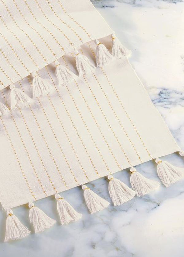 Inherit Co.  | Home + Lifestyle | Gold Cotton Table Runner
