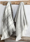 Gray Wool Blend Throw