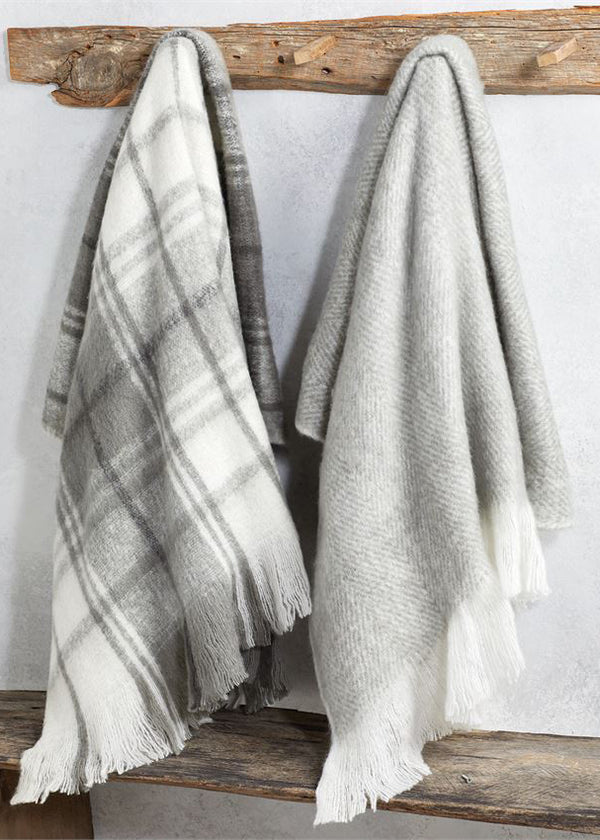 Inherit Co.  | Home + Lifestyle | Gray Wool Blend Throw