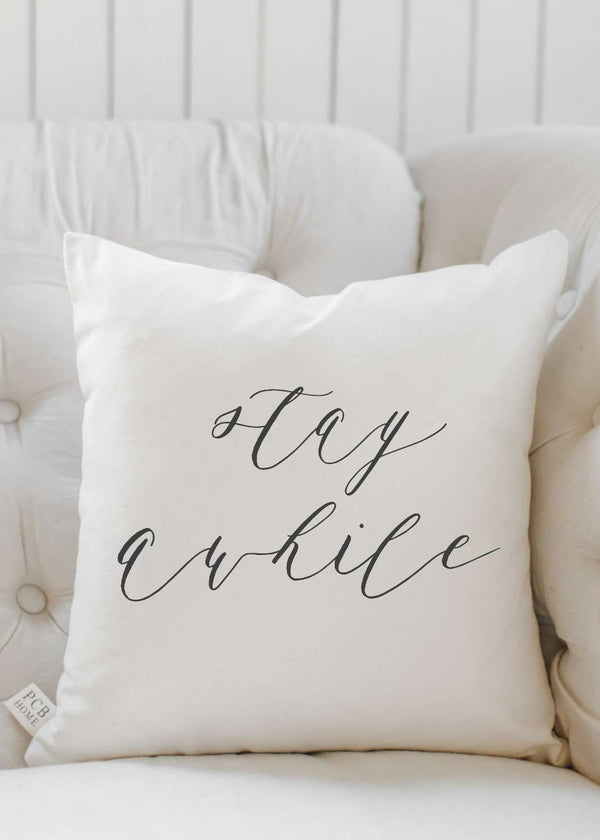 Inherit Co.  | Home + Lifestyle | Stay Awhile Pillow | stay awhile couch pillow