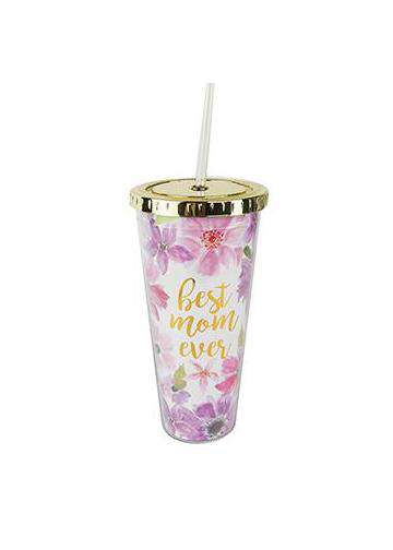 Best mom ever straw tumbler