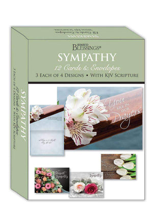 Sympathy Bouquets Boxed Greeting Card Set KJV