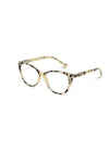 Cream Blue Light Cat Eye Glasses