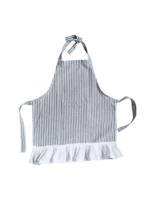 Childrens navy and white pinstripe apron