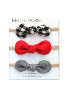 Inherit Co.  | Girls Modest Clothing | Gingham Headband - Set of 3