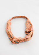 Bronze Floral Stretchy Headband - FINAL SALE