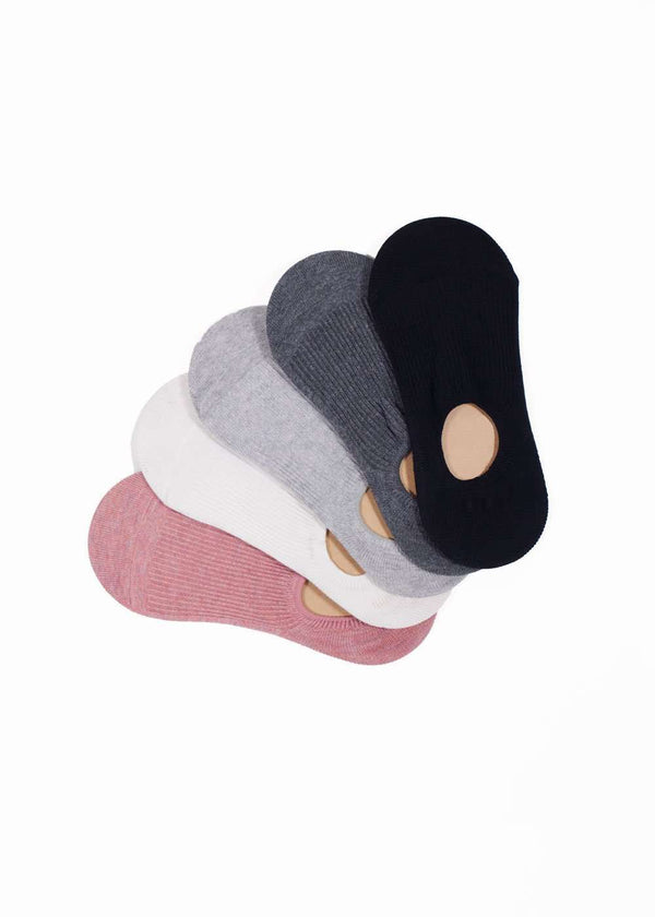 Inherit Co.  | Women's Shoes & Accessories | Cotton Sneaker Socks | cotton no show blush, white, gray, charcoal, black socks