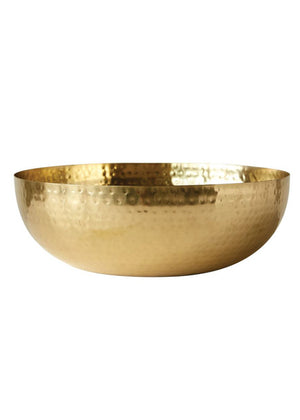 gold hammered tin bowl