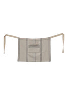 Woven Cotton Striped Waist Apron