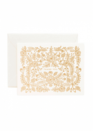 Modest women's boutique gold foil floral thank you card