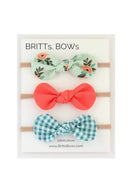 Mint Floral Infant Headband - FINAL SALE