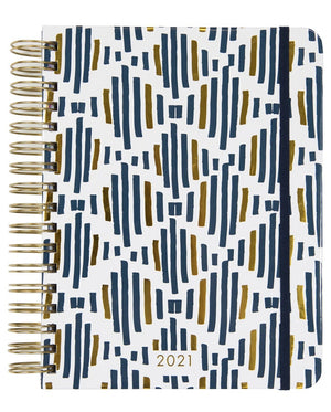 Navy and Gold Striped Planner - FINAL SALE