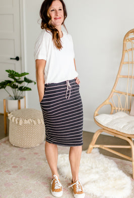 Inherit Co.  | Modest Women's Skirts | Flowy Olive Tiered Midi Skirt |