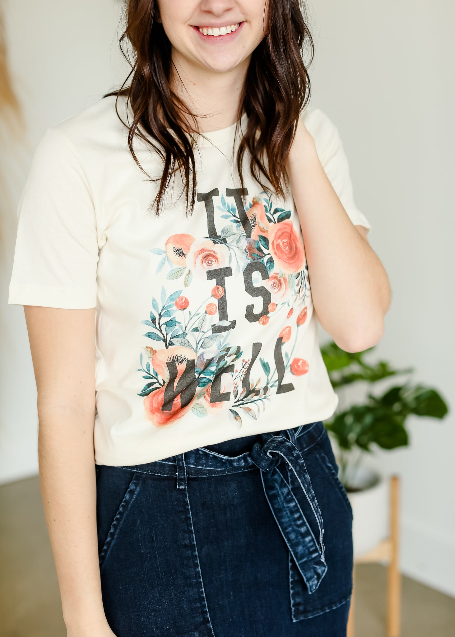 It is Well Floral Tee