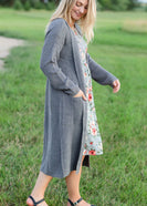 Knit Charcoal Long Cardigan - FINAL SALE
