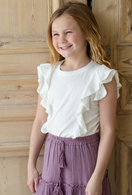 Inherit Co.  | Modest Girls' Clothing | Ivory Sweet Heart Midi Dress - FINAL SALE |