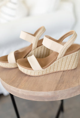 Inherit Co.  | Modest Women's Best Sellers | Everlyn Gray Wedge Sandal - FINAL SALE |