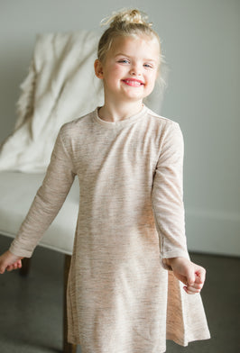 Inherit Co.  | Girls Modest Clothing | Ruthie A-Line Long Khaki Skirt |