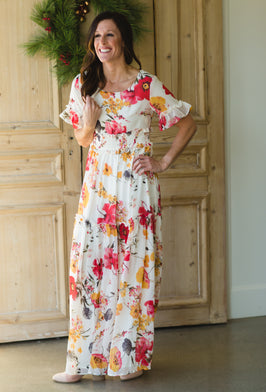 Inherit Co.  | Women's Modest Dresses | Georgia Long Sleeve Floral Maxi Dress |
