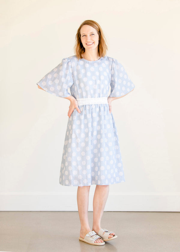 Inherit Co.  | Women's Modest Dresses | Eyelet Lace Printed Midi Dress