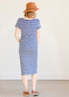 Multi Tie Navy Striped Midi Dress - FINAL SALE
