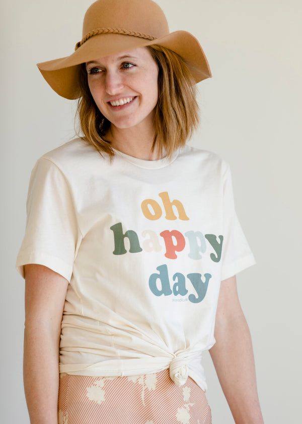 Inherit Co.  | Modest Women's Tops | Oh Happy Day Vintage Tee