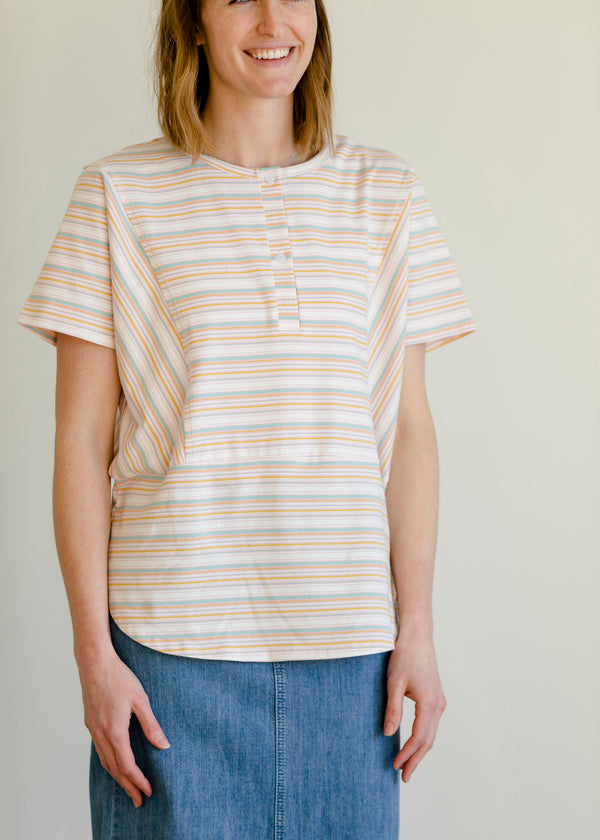 Inherit Co.  | Multi Striped Button Up Tee
