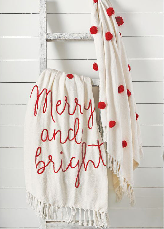 Inherit Co.  | Home + Lifestyle | Red + White Christmas Throw - FINAL SALE