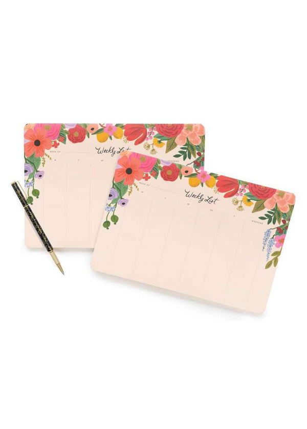 Inherit Co.  | Home + Lifestyle | Garden Party Weekly Planner | Women's gift blush and pink florals weekly to do list