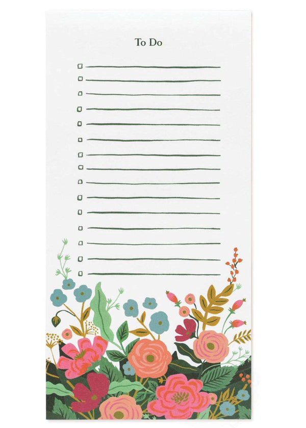 Inherit Co.  | Home + Lifestyle | Floral Vines To Do Notepad