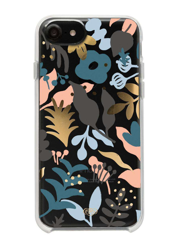 Modest women's blue and pink floral iPhone case