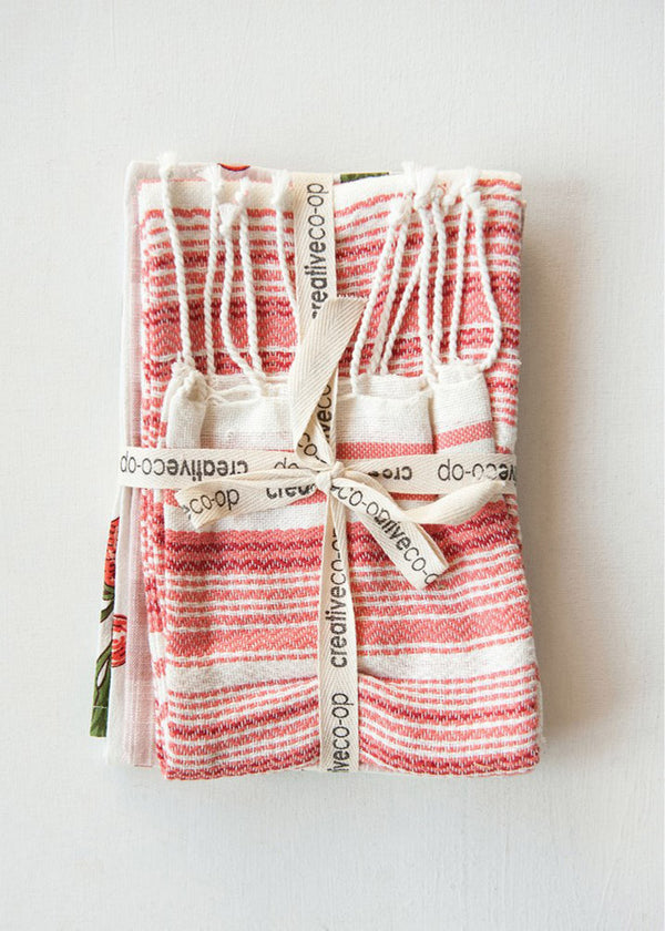 Inherit Co.  | Women's New Arrivals | Holiday Cotton Tea Towels - Set of 3