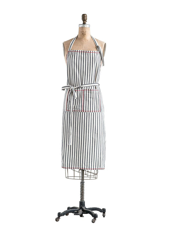 Inherit Co.  | Women's New Arrivals | Cotton Striped Pocket Front Apron