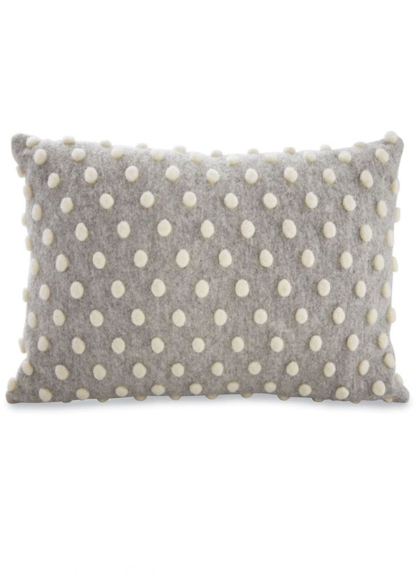 Inherit Co.  | Home + Lifestyle | Gray and White Pom Pom Pillow