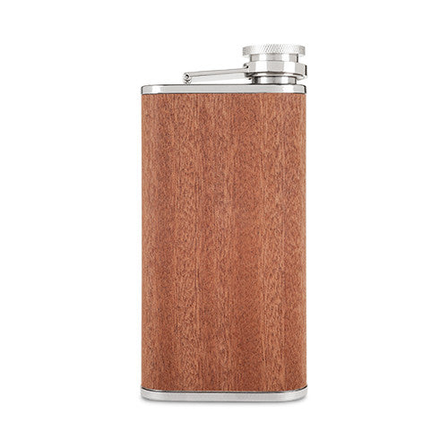 Wood Veneer and Stainless Steel Flask by Foster & Rye