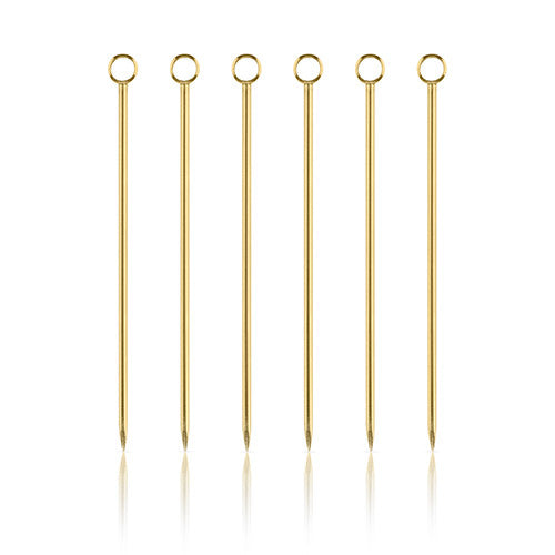 Professional Belmont Gold Cocktail Pick Set by Viski