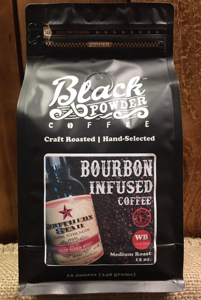 Black Powder Coffee SDC Cask Strength Bourbon Infused Coffee