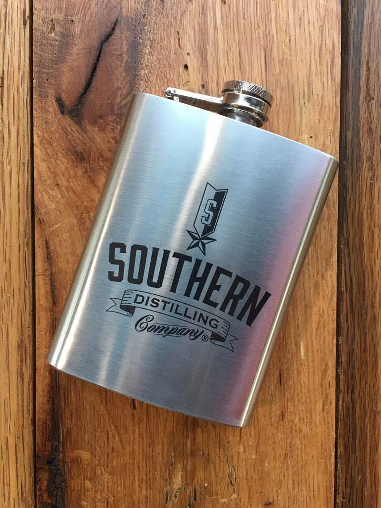 SDC Brushed Stainless Steel Logo Flask