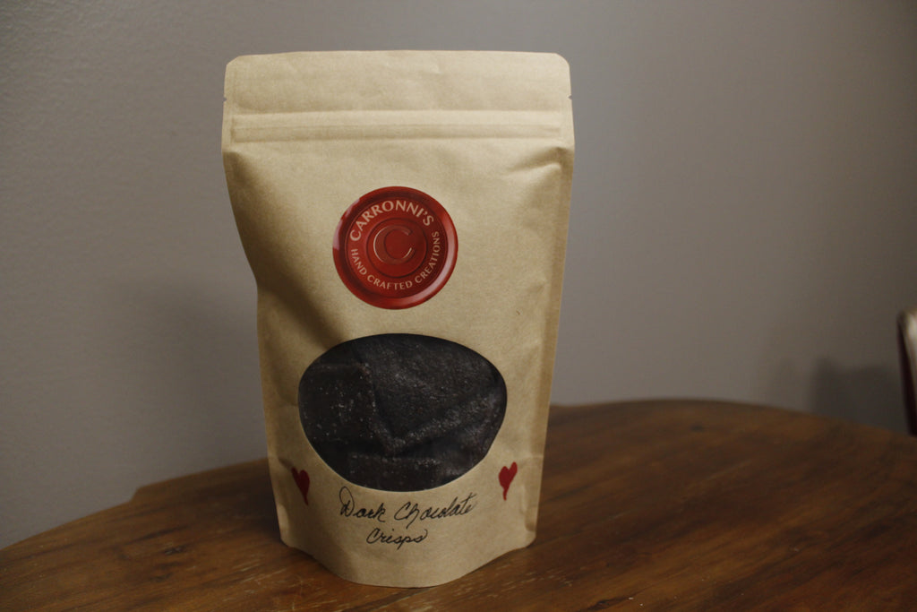 Carronni's Hand Crafted Dark Chocolate Crisps