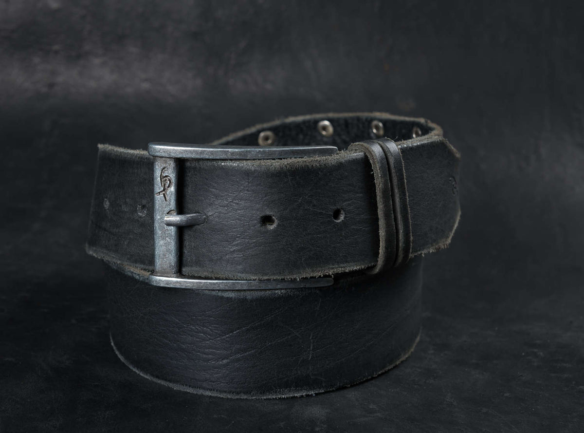 Black Leather Belt, Custom Leather belt, Grunge style, Leather Accessories Belts, Leather Buckle Belt, Men's Leather Accessories, Men's Belt