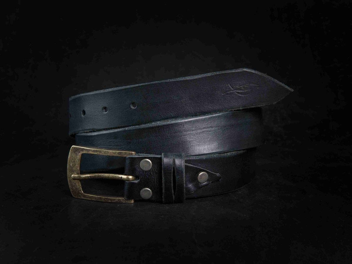 Black Belt, Men's Belt, Accessories for Father, Unisex Belt, Quality Leather, Vintage Style Leather, Genuine Leather, Accessories for Him