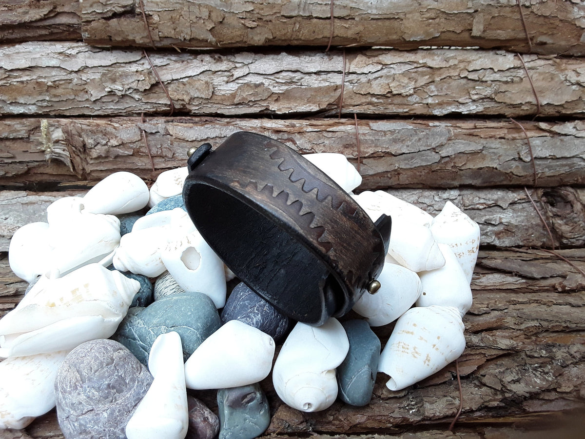 Bracelet for Men, Leather Cuff, Men's Cuff Bracelet, Brown Leather, Steampunk Cuff, Men's Bracelet, Men's Leather Bracelet, Wrap Bracelet
