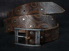 Biker belt - brown