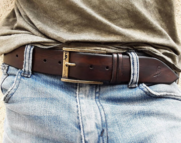 Simple belt - dark brown