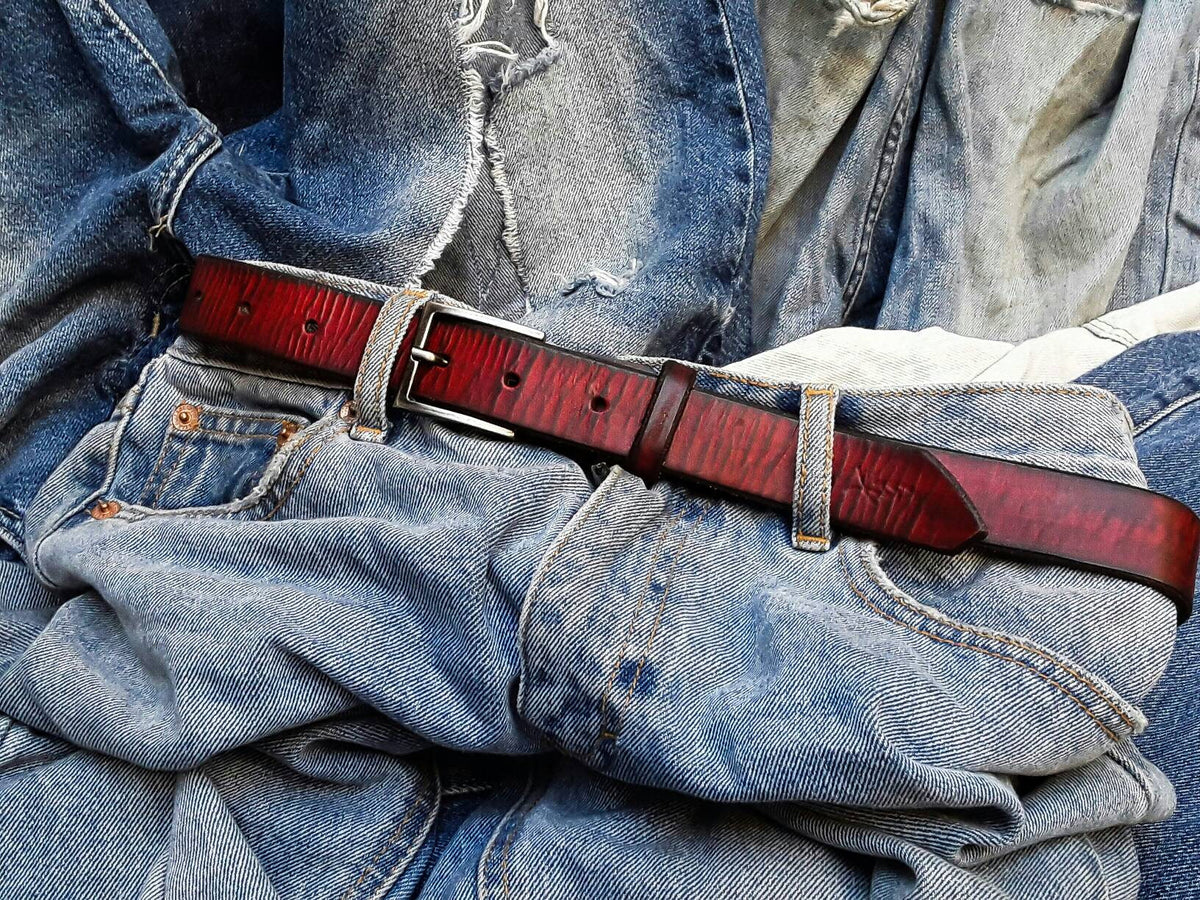 Buckle Belt, Leather Belts, Leather for Her, Women's Belts, Unique Leather, Red Belts, Art Leather, Unisex Belts, Women's Accessories Belts,