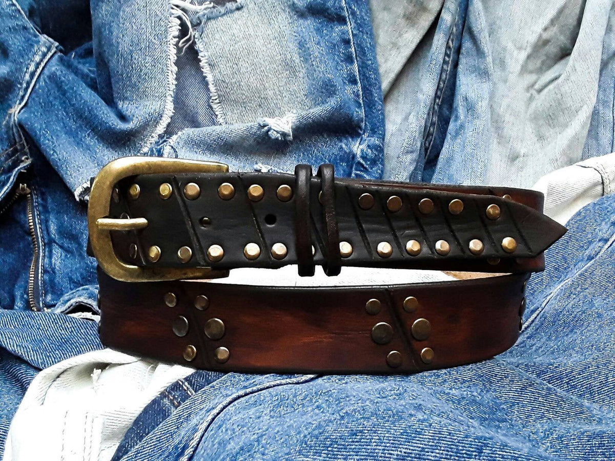 Rustic Style, Men's Belt, Unique Leather, Men's Brown Leather, Custom leather belts, Mens Apparel, Buckle Belt, Artisan Leather,Accessories