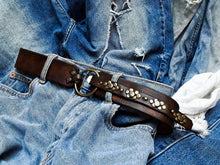 Ring & rivets belt - Brown