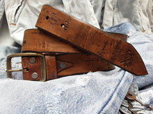 Electric belt - Brown mediume